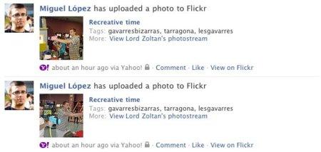 flickr facebook integracion mensajes