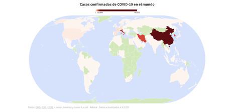 Coronavirus mapa mundial