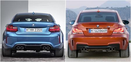 BMW M2 vs Serie 1 M Coupé: comparativa visual