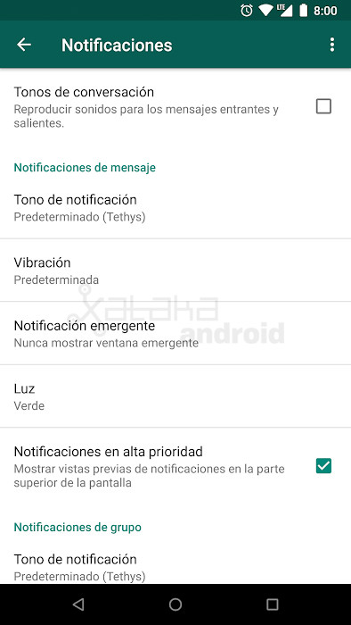 Notificaciones Chat