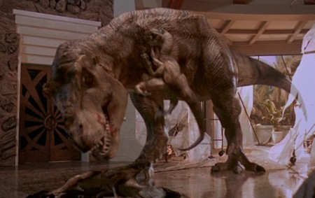 Jurassic World y Jurassic Park, T-Rex héroe