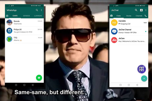 JioChat: probamos el clon de WhatsApp 'Made in India'