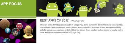 Google elige las diez mejores aplicaciones Android de 2012