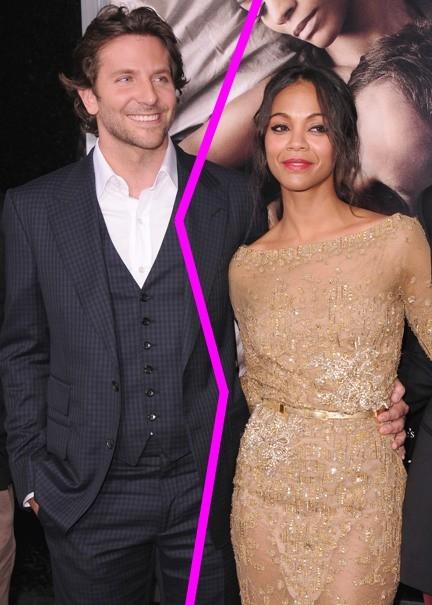 Uy, ¿pero Bradley Cooper y Zoe Saldaña lo dejan otra vez?
