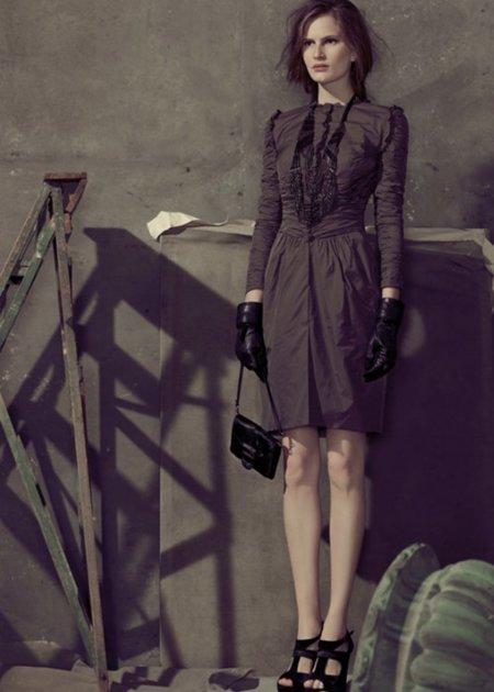 Hoss Intropia vestido marrón