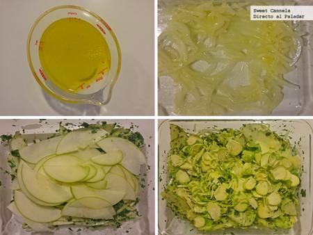 Preparacion Coles Brusela Con Manzana
