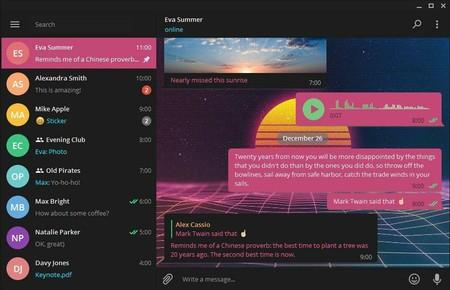 Telegram renueva su aplicación de escritorio con nuevo diseño, temas personalizados y más