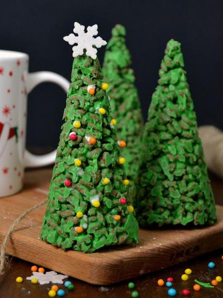 Arboles De Navidad De Chocolate Blanco