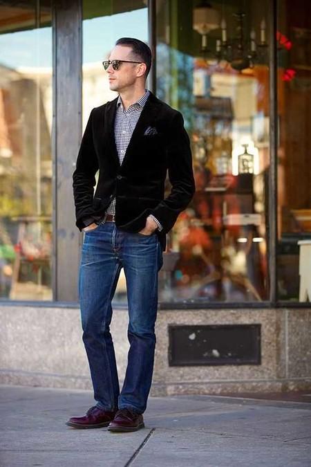 Trendencias Hombre Terciopelo Street Style 2018 13