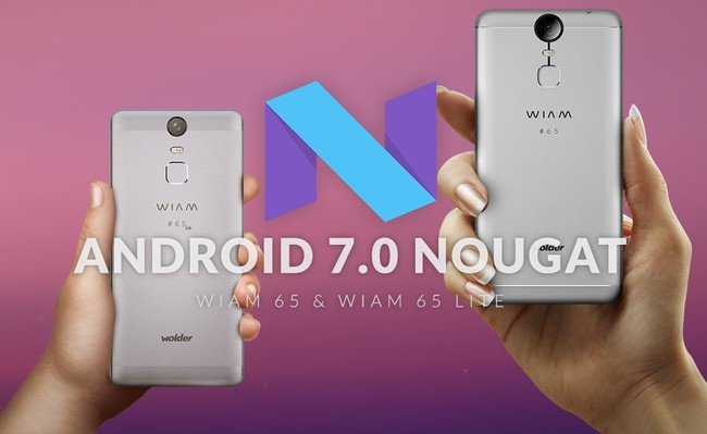 The Wolder Wiam 65 and 65 Wiam Lite Will Be Updated to Android Nougat during The First Quarter