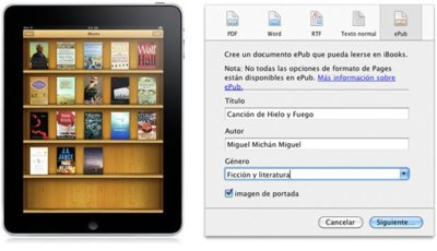 Exporta tus documentos al formato ePub con Pages