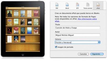 Exporta tus documentos al formato ePub con Pages