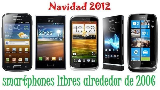Precios smartphones gama media navidad 2012