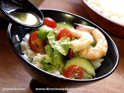 Ensalada sushi. Receta japonesa