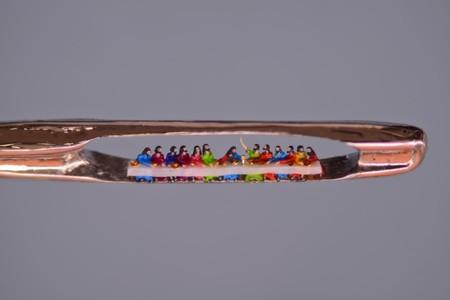 Cuando la miniaturización se apodera del arte: estas nanoesculturas son tan precisas como diminutas