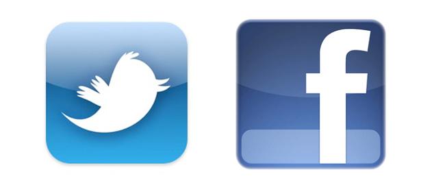 Facebook y Twitter.