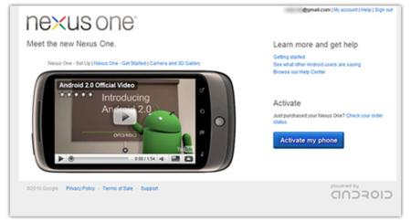 Google Nexus, habilitada por un tiempo la página de activación del teléfono