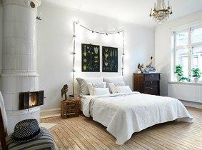 Puertas abiertas: un dormitorio vintage lleno de vida