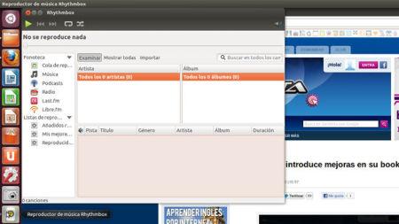 Ubuntu 12.04 Beta 1, Rhythmbox
