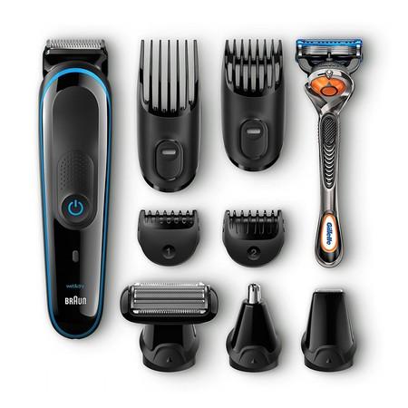 Este completo set de afeitado   corporal y facial con recortadora 9 en 1 Braun MGK 3080 cuesta sólo 39,99 euros en Amazon