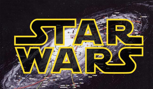 Este mapa interactivo nos ayuda a comprender las dimensiones del universo de Star Wars