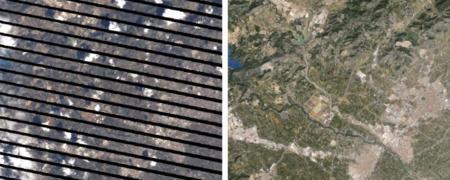Antes y después del proceso de imágenes