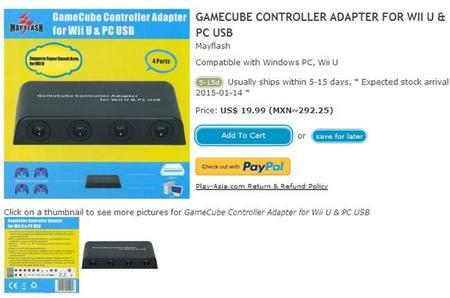Nuevo Adaptador De Gamecube Para Wii U Con Soporte Para Cuatro Mandos 00