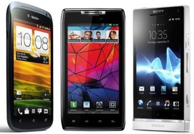 Sony Xperia S, HTC One S y Motorola RAZR frente a frente: teléfonos Android de 4.3 pulgadas
