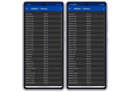 Samsung Galaxy S10 Lite S10 Temperatura