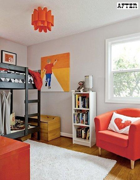 El cuarto de Aidan después de la reforma.