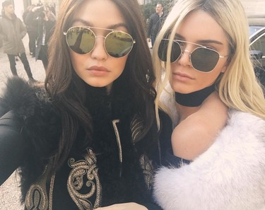 ¿Quién es quién? ¿No era Kendall la morena y Gigi la rubia?