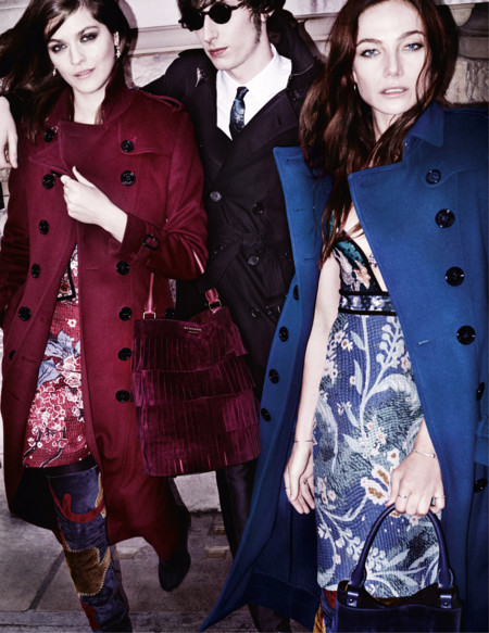 Amber Anderson Clara Paget And Ranald Mcdonald In The Burberry Autumn Winter 2015 Campaign