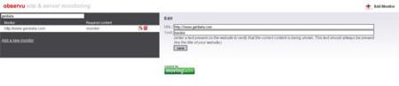 Observu: opción minimalista para monitorizar sitios web