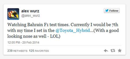 Alex Wurz compara su LMP1 con los actuales Fórmula 1