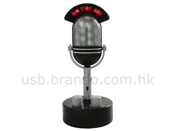 Radio con forma de micrófono