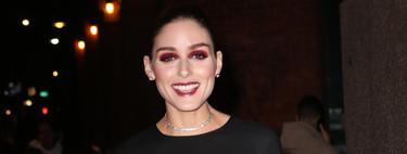 Olivia Palermo celebra el lanzamiento de nueva firma con un look en blanco y negro y una llamativa sombra de ojos