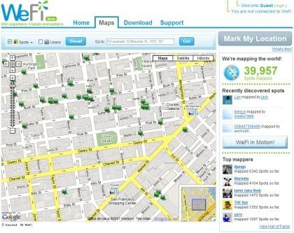 WeFi: conexiones wifi abiertas en todo el mundo