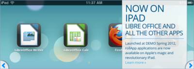 LibreOffice disponible para iPad y Chromebook gracias a RollApp