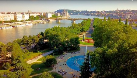 La Isla Margarita de Budapest a vista de pájaro (vídeo)
