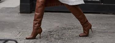 Las botas altas también son para la oficina, y así puedes combinarlas para acertar