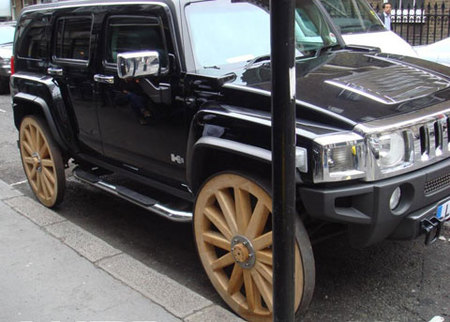 Hummer H3 Wood Wheels
