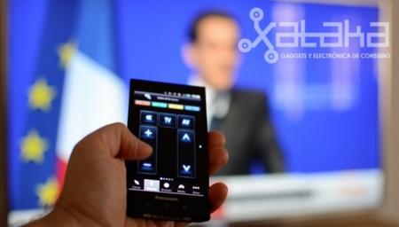 Panasonic Eluga como mando a distancia