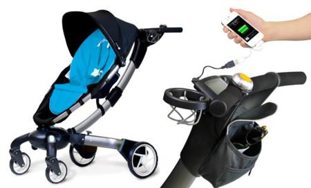 Origami, el carrito para bebés que te recarga el móvil y se despliega y recoge solo