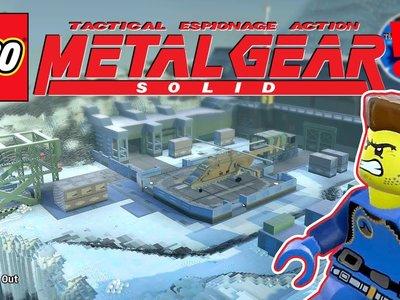 Con paciencia y dedicación se puede recrear el mundo de Metal Gear Solid en LEGO Worlds