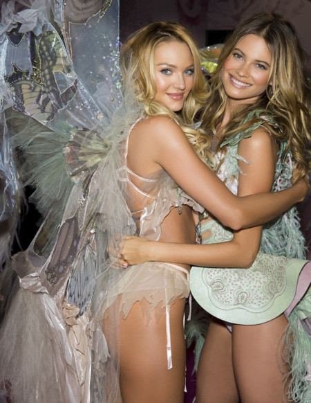 Fashion Show 2015 Announcement Angels Candice Behati Lingerie Runway Victorias Secret Hi Res