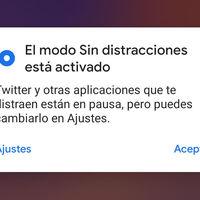 Bienestar Digital de Google lanza el modo 'Sin distracciones': una nueva ayuda para concentrarte