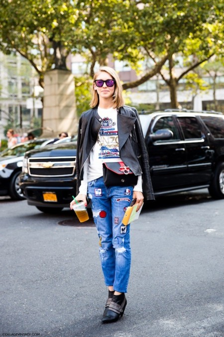 nyfw street style parches