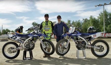 Un poco de Flat Track con dos estrellas mundiales: Jorge Lorenzo y Chad Reed
