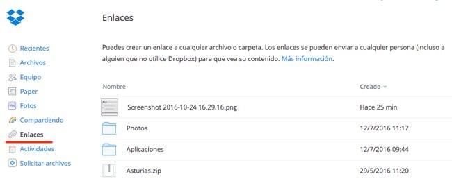 Compartir Dropbox