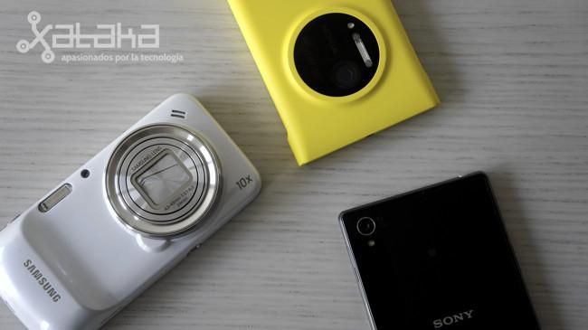 Los tres grandes smartphones con cámara de fotos frente a frente: Lumia 1020, Galaxy S4 Zoom y Xperia Z1